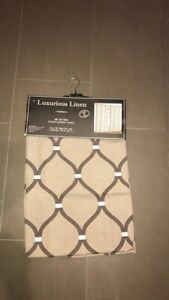 Linen curtains drapes two panels
