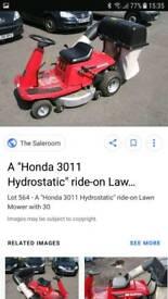 Honda hydrostatic ride on 3011