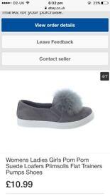 Pom Pom shoes trainer size 6 women's