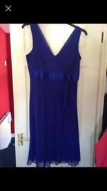 Blue knee length dress size 14