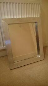 Silver colour contemporary mirror