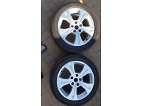 2x Renault Schuss Alloys with tyres-