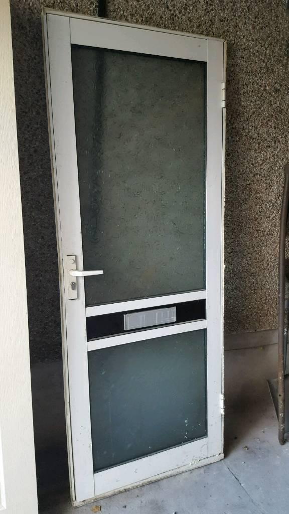Metal Frame Glasetal Door Front Back Garage Shed