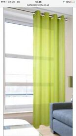 Lime green voile