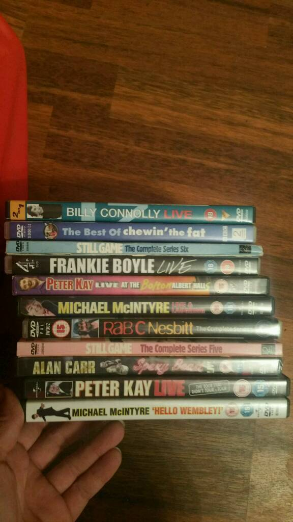 Mixed joblot of comedy dvds