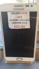GALAXY NOTE 32 GB UNLOCKED CONDITION GOOD