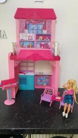 Barbie Dream House and doll