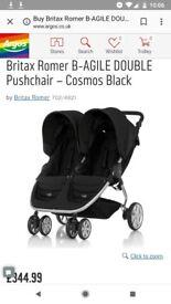 Britax romer b-agile double pushchair. Nearly new