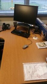 Free for Collection - 3 Professional Desks & 2 Partitions