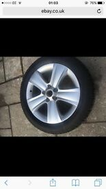 Skoda yeti wheel and tyre