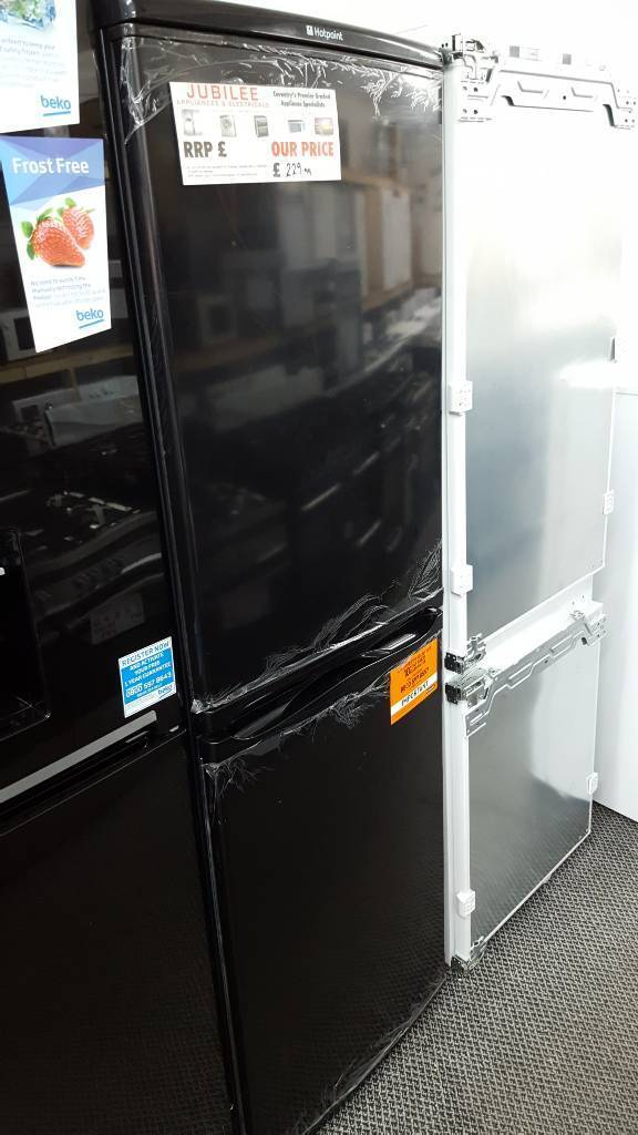 New graded Hotpoint 55cm frost free fridge freezer with 12 months guarantee