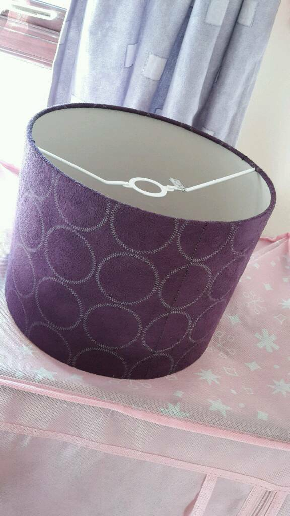 Purple ceiling light lamp shade in guildford surrey gumtree purple ceiling light lamp shade aloadofball Images