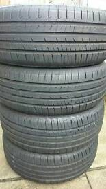 4x 215 55 R16 97W extra load tyres 7.5 mm tread