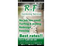 Rf landscaping . Fencing, paving