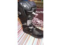 wulfsport motocross motox quad kids youth junior boots in black size 38euro