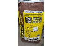 UNWANTED TILE ADHESIVE - WEBERSET RAPID SPF - 1 UNOPENED BAG PLUS HALF OPEN BAG FOR FREE