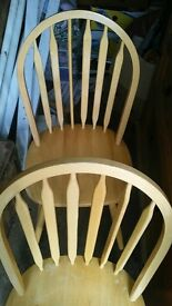 Dining Chairs - Set of 4. pine beech wood