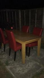 Table and chairs ...