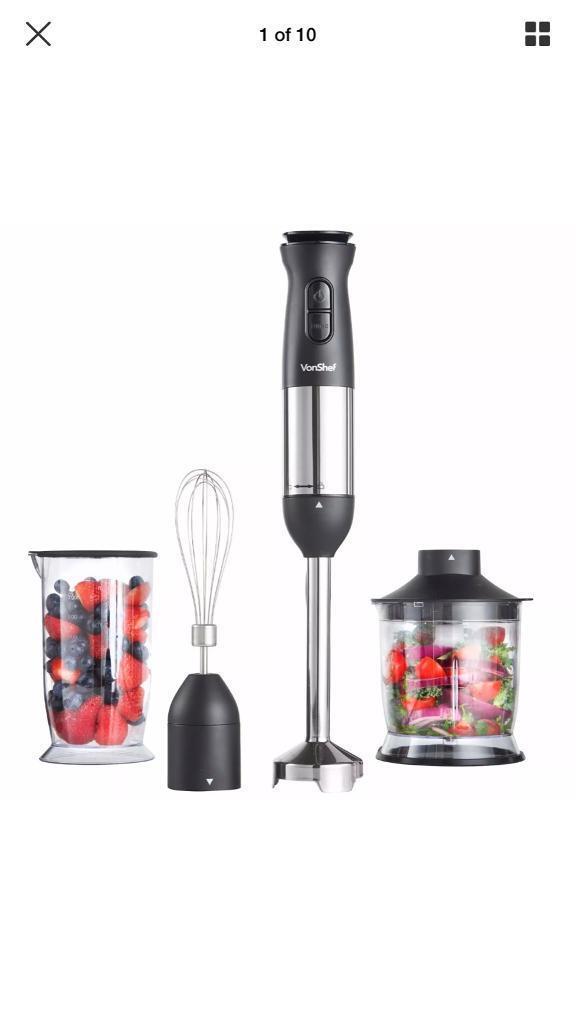 Von Chef electric 3 in 1 hand blender mixer smoothie