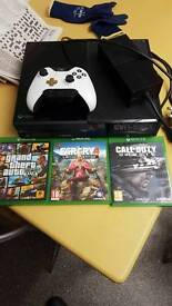 Xbox one 3 games with technics stereo and speakers new lunar white controller