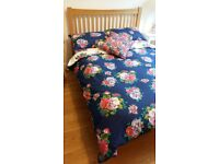 oak double bed. Less than a year old and in good condition