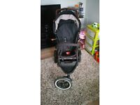 Phil and Teds double pushchair with rain cover and sun cover