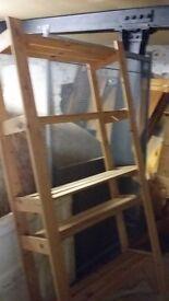 Basic pine shelved storage unit