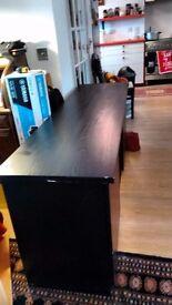 HABITAT SIDEBOARD BLACK L.172cm W 48.2cm H 60.3cm URGENT