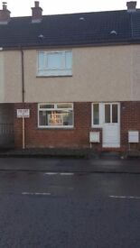 2 bedroom, mid-terrace house for rent in quiet area of Stewarton