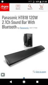 Panasonic HTB18 120W 2.1Ch Sound Bar With Bluetooth