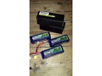 Turnigy Nanotech 1800mAh 65-130C 4S LiPo X3 For Sale