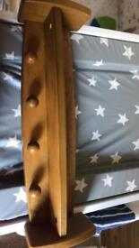 Children coat hanger with shelf