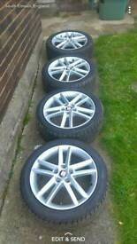Seat leon fr alloys with mint tyres