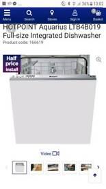 Hotpiont integrated dishwasher new unused
