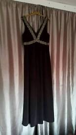 Burgany Evening gown