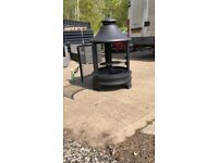 Used, GIANT 120cm Metal Fire Pit Garden Patio Heater Log Wood Burner BBQ Grill - 2 Available - RRP £200 for sale  Witham, Essex