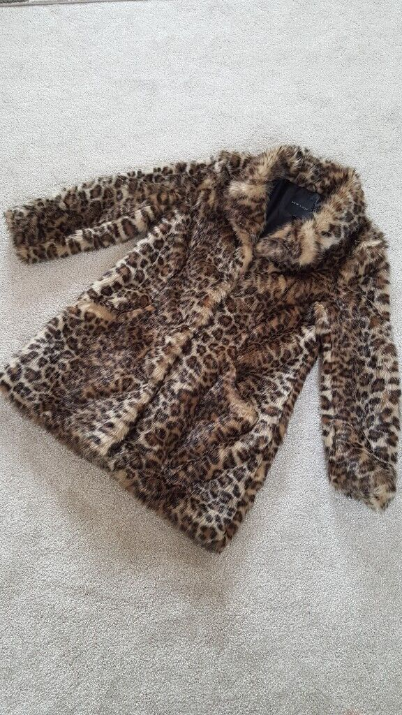 Womens Leopard Print Coat Size 14 For 7 In Huddersfield West