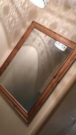 Large wood mirror