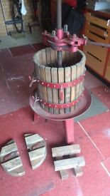 Authentic Italian wine press, used for Cider over the past 6 years. Works a treat, buyer collects.