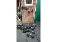 Barbell and Dumbbell Adjustable sets with racks