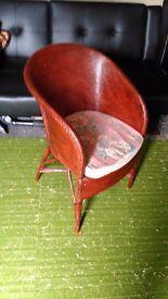 Mahogany wicker chair
