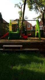 Tikes double swing set play centre