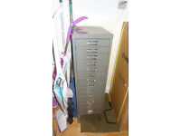 15 Drawer metal filing cabinet - documents, office, paperwork (100cm tall)