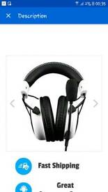 Hyper x Cloud White Gaming Headsets