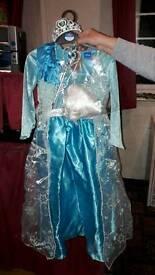 Deluxe elsa frozen dress up