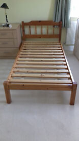 Single Pine Bed Frames in very good condition from Pet/Smoke free home. £40 each or Two for £70