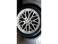 "19"" ALLOY WHEELS AND TYERS"