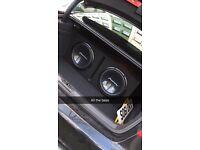 2 Pioneer Champion Series 12inc SUBS & 1800Watt Kenwood AMP & InPhase Crossover.