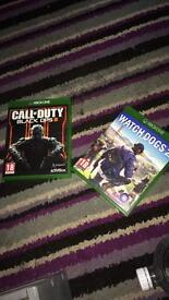 Watch Dogs 2 and black ops 3
