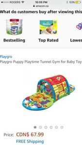 New Playgro Puppy Playtime Tunnel gym forBabies